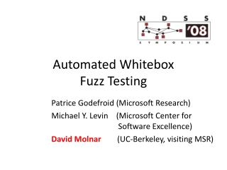 Automated Whitebox  Fuzz Testing
