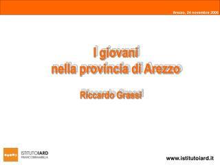 I giovani  nella provincia di Arezzo