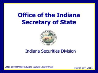 Office of the Indiana Secretary of State