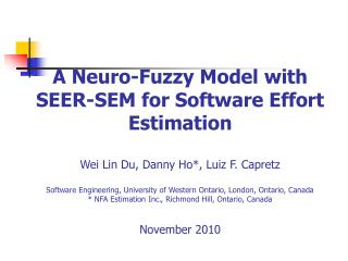 A Neuro-Fuzzy Model with SEER-SEM for Software Effort Estimation   Wei Lin Du, Danny Ho, Luiz F. Capretz  Software Engin