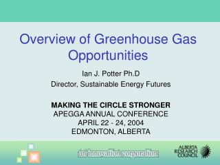 Ian J. Potter Ph.D Director, Sustainable Energy Futures