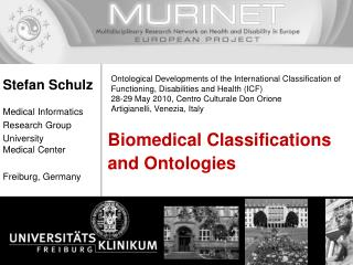 Biomedical Classifications and Ontologies