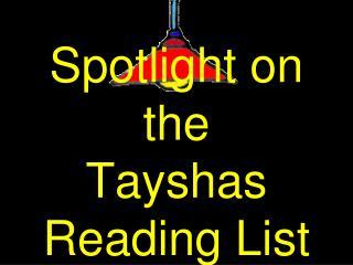 Spotlight on the Tayshas Reading List  2012