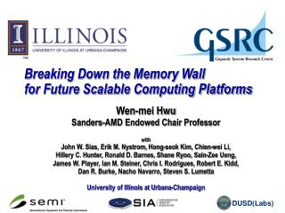Breaking Down the Memory Wall  for Future Scalable Computing Platforms