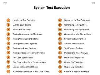 System Test Execution