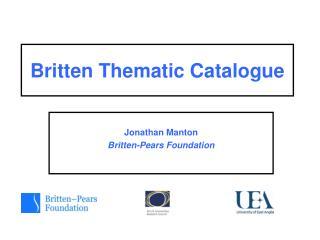 Britten Thematic Catalogue