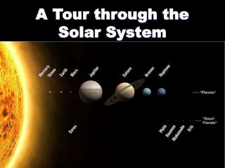 A Tour through the Solar System