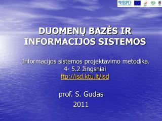 prof . S. Gudas 20 11