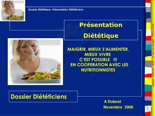 Dossier Diététiciens