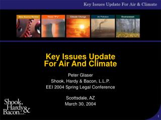 Key Issues Update  For Air And Climate