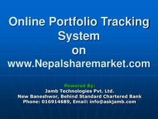 Online Portfolio Tracking System on Nepalsharemarket