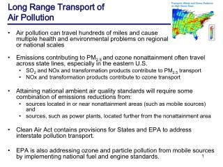 Long Range Transport of  Air Pollution
