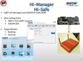 Hi-Manager Hi-Safe