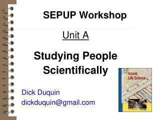 SEPUP Workshop