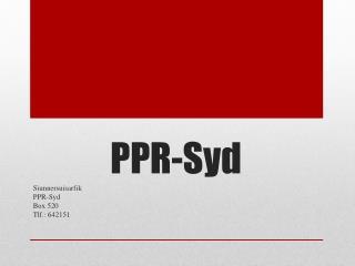 PPR-Syd