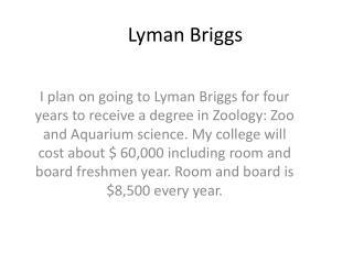 Lyman Briggs