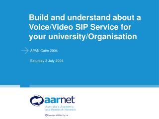 Build and understand about a Voice/Video SIP Service for your university/Organisation