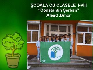 """ŞCOALA CU CLASELE  I-VIII  """" Constantin Şerban """" Aleşd ,Bihor"""