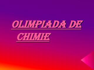 OLIMPIADA DE CHIMIE