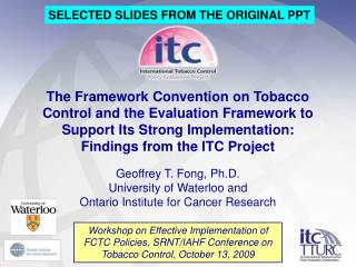 SELECTED SLIDES FROM THE ORIGINAL PPT