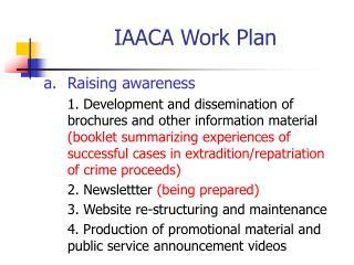 IAACA Work Plan