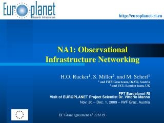 NA1: Observational Infrastructure Networking
