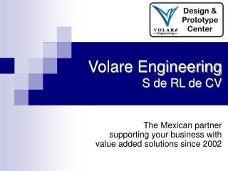 Volare Engineering S de RL de CV