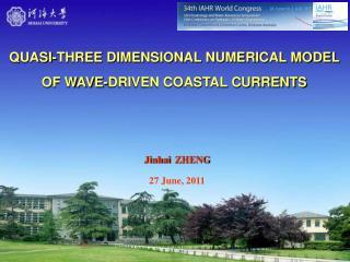 QUASI-THREE DIMENSIONAL NUMERICAL MODEL OF WAVE-DRIVEN COASTAL CURRENTS