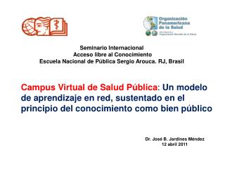 Seminario Internacional  Acceso libre al Conocimiento