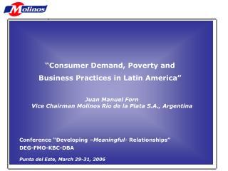 La Contribución de los Empresarios al Futuro de la Argentina. Juan Manuel Forn