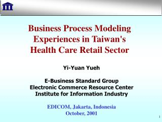 Business Process Modeling Experiences in Taiwan's  Health Care Retail Sector