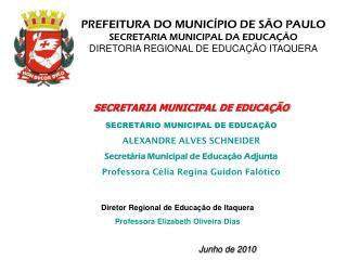 PREFEITURA DO MUNIC�PIO DE S�O PAULO SECRETARIA MUNICIPAL DA EDUCA��O