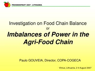 Investigation on Food Chain Balance or Imbalances of Power in the Agri-Food Chain