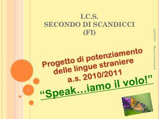 I.C.S.  SECONDO DI SCANDICCI (FI)