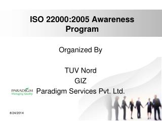 ISO 22000:2005 Awareness Program