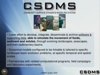 CSDMS Update, 2009