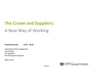 The Crown and Suppliers: A New Way of Working