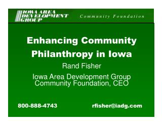 Enhancing Community Philanthropy in Iowa Rand Fisher