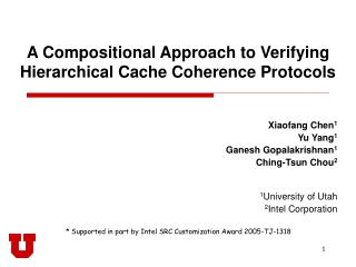 A Compositional Approach to Verifying Hierarchical Cache Coherence Protocols