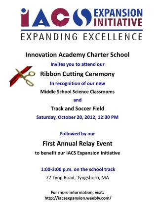 Innovation Academy Charter School  Invites you to attend our  Ribbon Cutting Ceremony