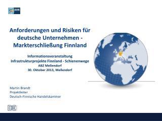 Martin Brandt Projektleiter Deutsch-Finnische Handelskammer
