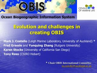 Evolution and challenges in creating OBIS