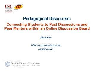 Pedagogical Discourse: