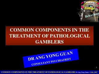 COMMON COMPONENTS IN THE  TREATMENT OF PATHOLOGICAL GAMBLERS