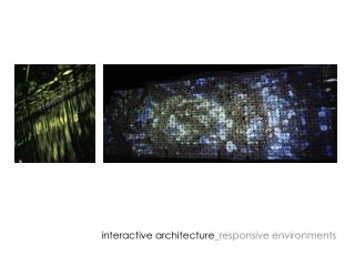 interactive architecture _responsive environments