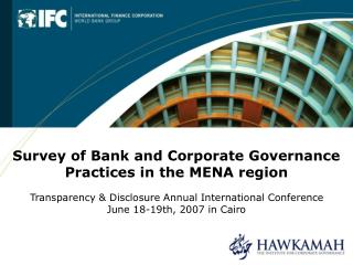 Survey of Bank and Corporate Governance Practices in the MENA region