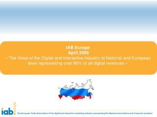 IAB Europe  April 2009