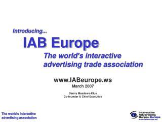 Introducing...  IAB Europe