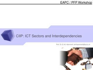 CIIP: ICT Sectors and Interdependencies