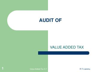 AUDIT OF